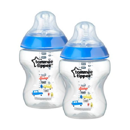 Tommee-Tippee-Closer-To-Nature-260ml-Bottles-Twin-Blue-Cars